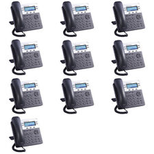 ☆ Joblot of 10 Grandstream GXP1450 IP Phone 962-00021-12 with Power Supply